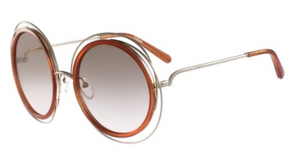 Chloé Carlina CE120S 735 Gold Caramel - Transparent Brown Grey