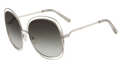 Chloé Carlina CE126S 733 Light Gold Transparent Grey Green - Smoke Shaded