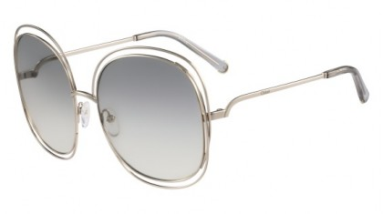 Chloé Carlina CE126S 734 Light Gold Transparent Light Grey - Light Grey Shaded