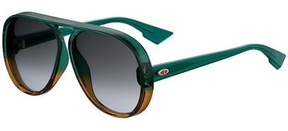 Christian Dior DIORLIA JWJ (1I) Green Shaded Brown - Grey Shaded