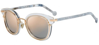 Christian Dior DIORORIGINS2 900 (0J) Crystal Rose Gold White Marble - Light Pink Mirror