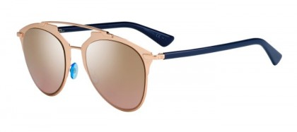 Christian Dior DIORREFLECTED 321 (0R) Rose Gold Blue - Gold Shaded Mirror
