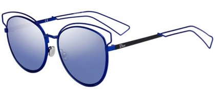 Christian Dior DIORSIDERAL2 MZP (NK) Blue - Blue Silver Mirror Gradient