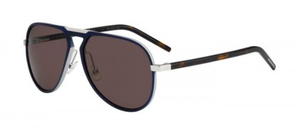 CHRISTIAN DIOR HOMME AL13.2 UFA (L3) Dark Blue Silver Havana - Brown