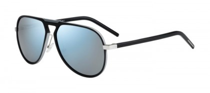 CHRISTIAN DIOR HOMME AL13.2 UFR (T7) Black Silver - Grey Blue Mirror