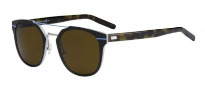 CHRISTIAN DIOR HOMME AL13.5 UFB (EC) Black Silver Green Havana - Grey Brown