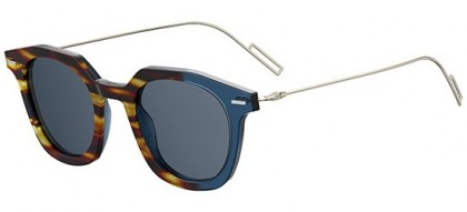 Dior Homme DIORMASTER AB8 (KU) Havana Shaded Grey Blue Gold - Blue