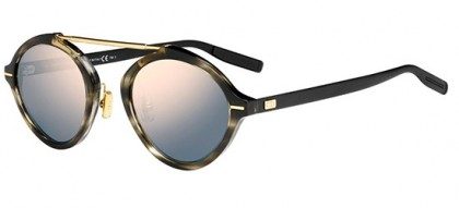 Dior Homme DIORSYSTEM 2OS (JO) Striped Black Havana Matte Black - Gold