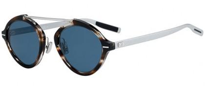 Dior Homme DIORSYSTEM 9G0 (KU) Striped Brown Havana Matte Silver - Blue