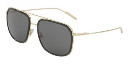 Dolce & Gabbana 0DG2165 488/81 Black Pale Gold - Grey Polarized