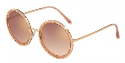 Dolce & Gabbana 0DG2211 12986F Pink Gold Transparent Pink - Gradient Pink Mirror Pink