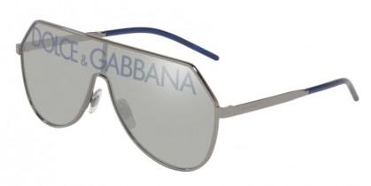 Dolce & Gabbana 0DG2221 04/N Gunmetal - Grey Tamp Deg Silver/Blue