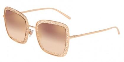 Dolce & Gabbana 0DG2225 12986F Pink Gold - Gradient Pink Mirror Pink