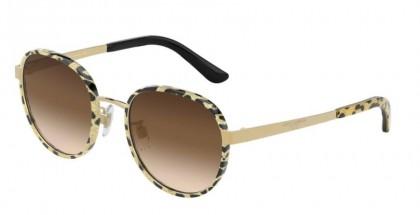 Dolce & Gabbana 0DG2227J 02/13 Leo Glitter Gold/Gold - Brown Gradient