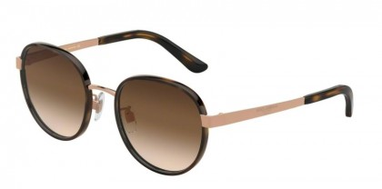Dolce & Gabbana 0DG2227J 129813 Havana/Rose Gold - Brown Gradient
