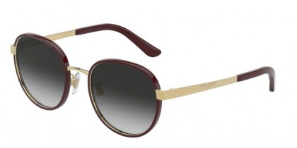 Dolce & Gabbana 0DG2227J 13188G Bordeaux/Gold - Grey Gradient