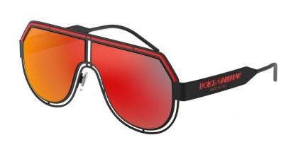 Dolce & Gabbana 0DG2231 11066Q Matte Black - Dark Grey Mirror Red/Yellow