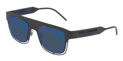 Dolce & Gabbana 0DG2232 110696 Matte Black - Dark Grey Ar Blue External