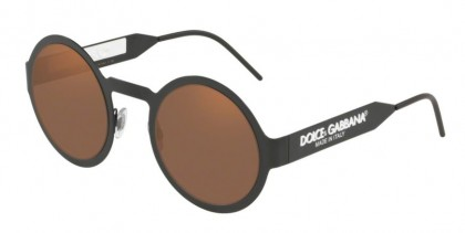 Dolce & Gabbana 0DG2234 1106/O Matte Black - Brown Orange Metallic