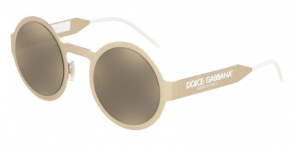 Dolce & Gabbana 0DG2234 13315A Matte Pale Gold - Light Brown Mirror Dark Gold