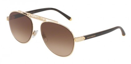 Dolce & Gabbana 0DG2235 02/13 Gold - Brown Gradient