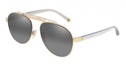 Dolce & Gabbana 0DG2235 02/88 Gold - Grey Mirror Silver Gradient