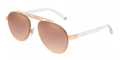 Dolce & Gabbana 0DG2235 12986F Pink Gold - Gradient Pink Mirror Pink