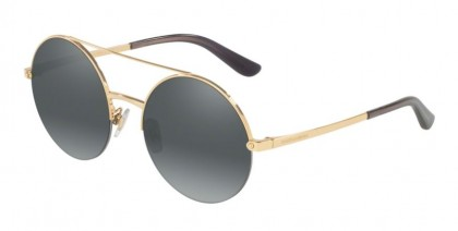 Dolce & Gabbana 0DG2237 02/88 Gold - Grey Mirror Silver Gradient