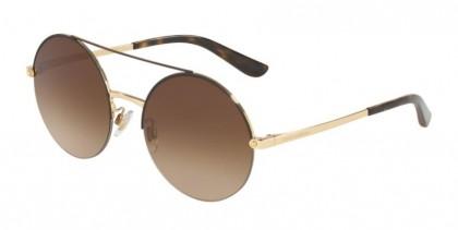 Dolce & Gabbana 0DG2237 132013 Gold/Matte Brown - Brown Gradient