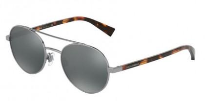 Dolce & Gabbana 0DG2245 04/6G Gunmetal - Light Grey Mirror Black