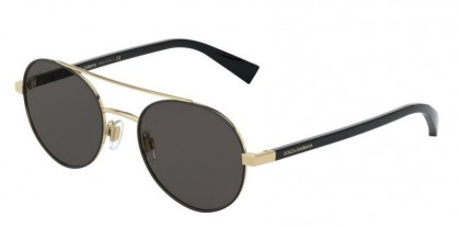 Dolce & Gabbana 0DG2245 131187 Gold/Matte Black - Grey