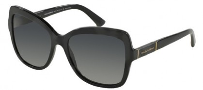 Dolce & Gabbana 0DG4244 LOGO PLAQUE 501/T3 Black - Grey Gradient Polarized