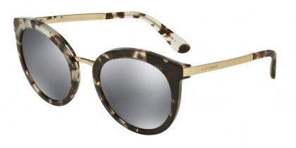 Dolce & Gabbana 0DG4268 28886G Cube Havana Fog - Grey Mirror Black