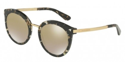 Dolce & Gabbana 0DG4268 911/6E Cube Black Gold - Gradient Light Brown Mirror Gold