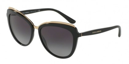 Dolce & Gabbana 0DG4304 501/8G Black - Grey Gradient