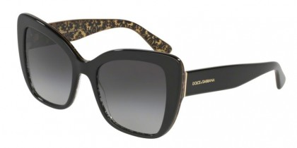 Dolce & Gabbana 0DG4348 32158G Black On Damascus Glitter Blac - Grey Gradient