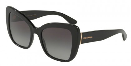 Dolce & Gabbana 0DG4348 501/8G Black - Grey Gradient