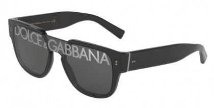 Dolce & Gabbana 0DG4356 501/M Black - Dark Grey Tampo Deg Silver