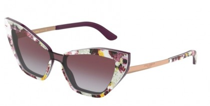 Dolce & Gabbana 0DG4357 32074Q Print Flower Power On Violet - Grey Gradient Violet