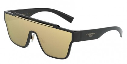 Dolce & Gabbana 0DG6125 501/03 Black - Clear Mirror Real Yellow Gold