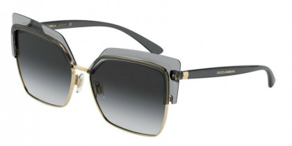 Dolce & Gabbana 0DG6126 31608G Transparent Grey/Gold - Grey Gradient