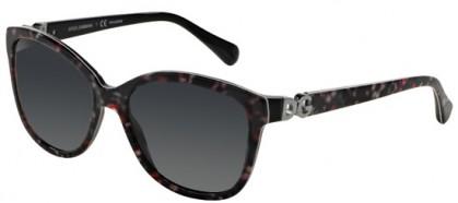 Dolce & Gabbana DG4258 2778T3 Black Flowers - Grey Shaded Polarized