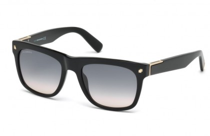 Dsquared2 DQ0212 01B Shiny Black - Smoke Shaded