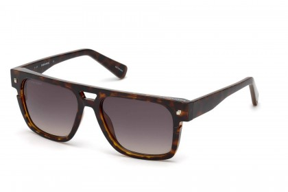 Dsquared2 DQ0294 52B Dark Havana - Smoke Shaded
