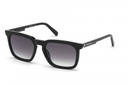 Dsquared2 DQ0295 01C Black - Smoke Mirror