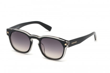 DSquared2 DQ0324 01B Black Crystal - Grey Shaded