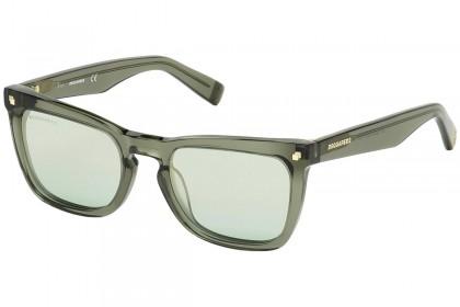 DSquared2 DQ0340 CAT 93Q Shiny Light Green - Mirrored Green