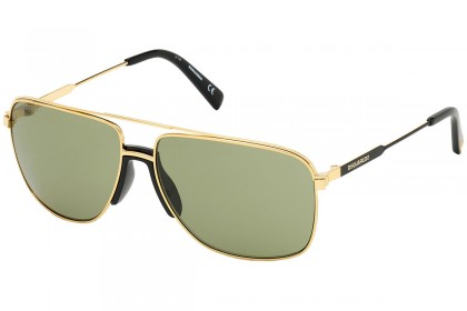 DSquared2 DQ0342 BARNEY 30N Shiny Gold - Green