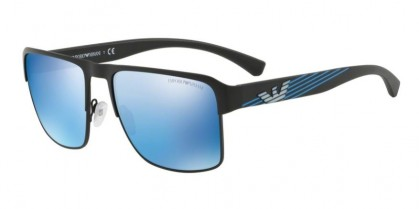 Emporio Armani 0EA2066 300155 Matte Black - Blue Mirror Blue