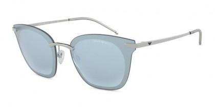 Emporio Armani 0EA2075 30156X Silver - Light Blue Mirror Silver